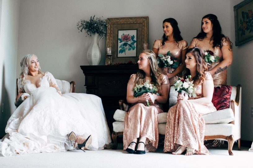 treat bridesmaids to a blow wave